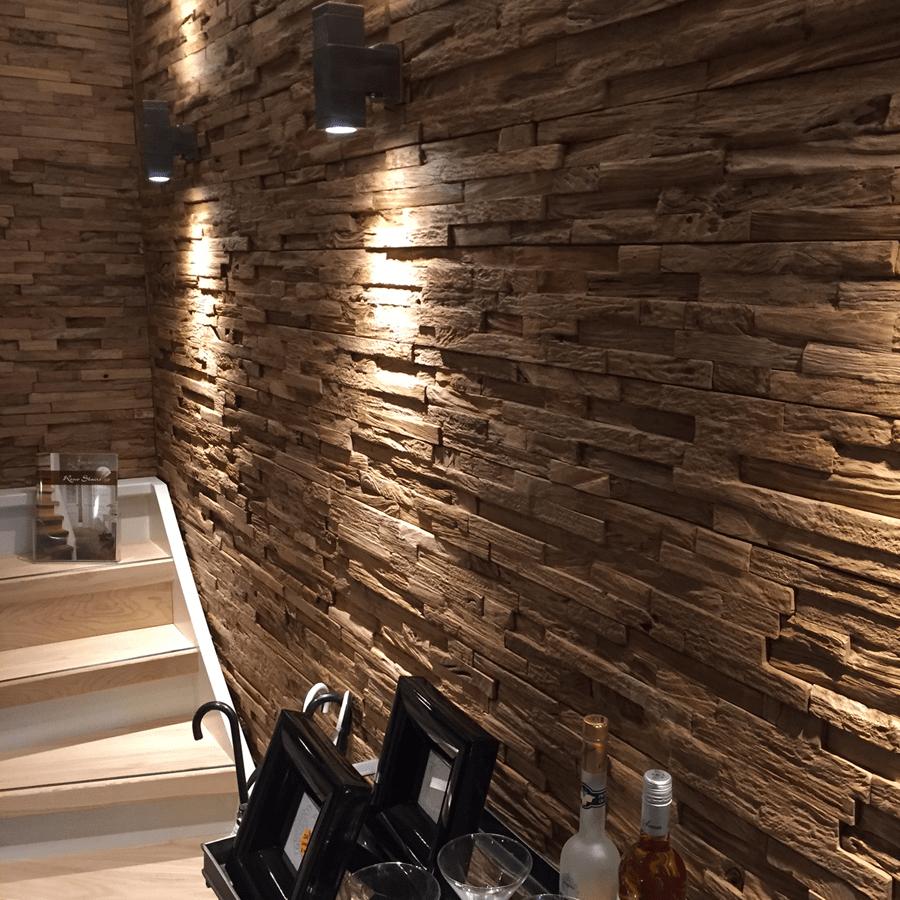 3D Teak Wall Panels PURE
