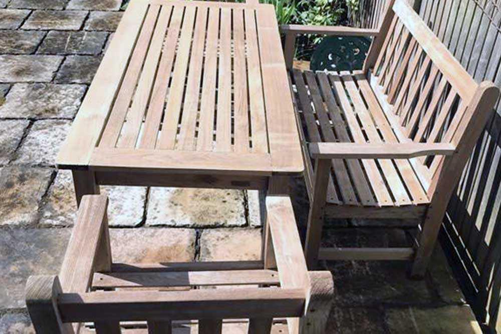 Garden furniture restoration picture 1 after