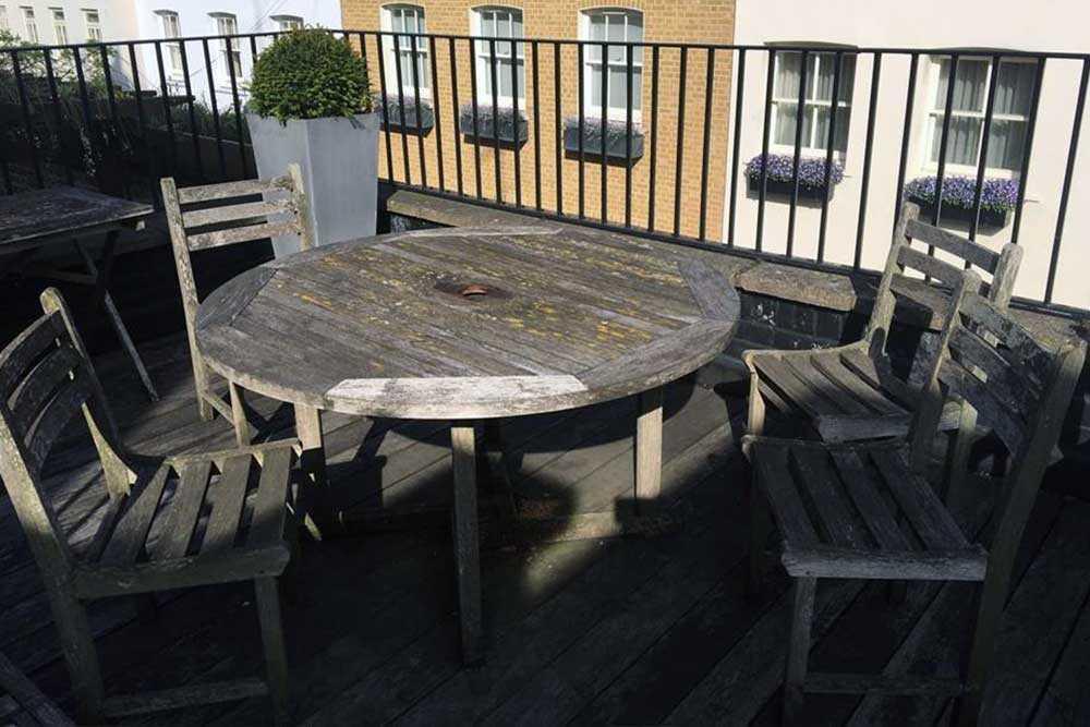 Garden furniture restoration picture 2 before