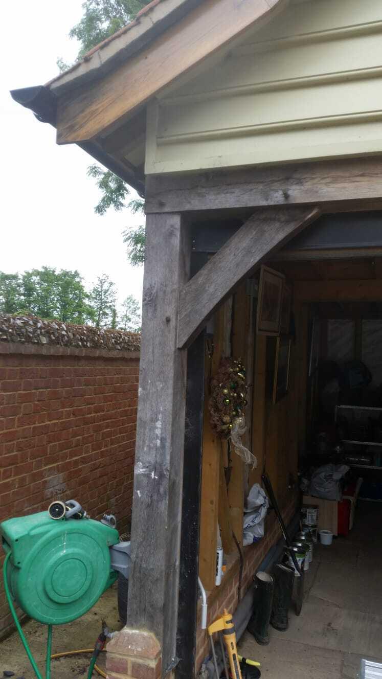 Weathered oak beams