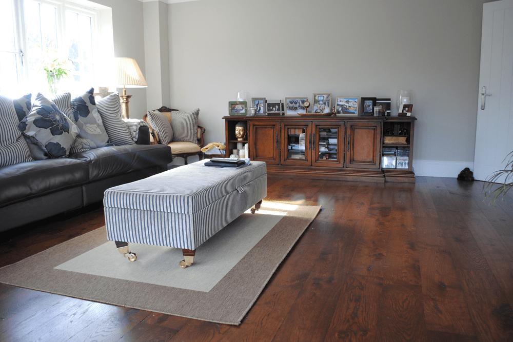 Engineered Oak fumed, aged and mahogany oiled flooring.