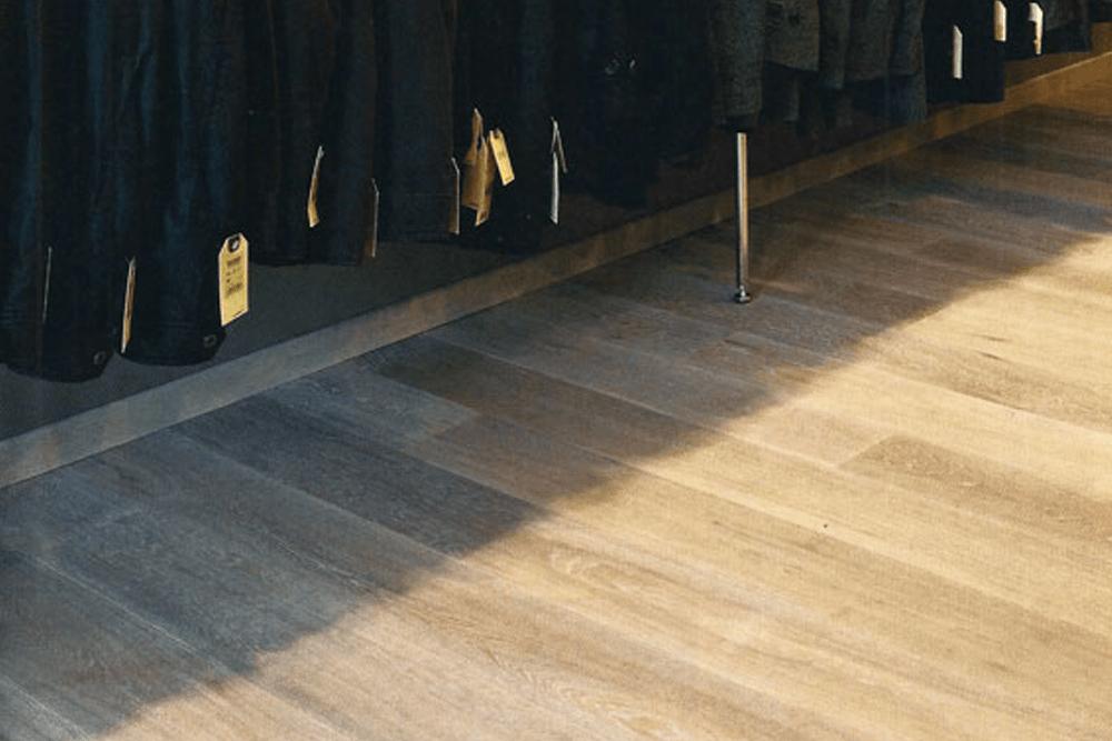 Fumed Oak, White Oiled - Retail Store