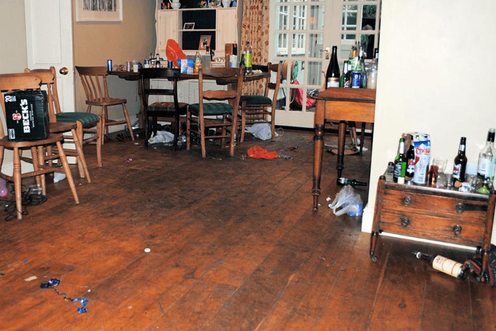 Original floor after a party