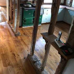 wood kitchen floor after